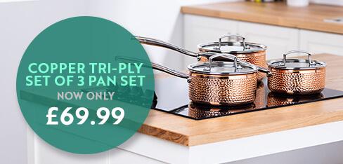 Copper Tri Ply Pan Set