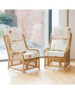 Alfresia 2 Cadiz Conservatory Armchairs with High Back Cushions