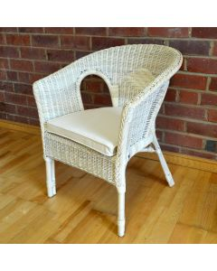 Alfresia Hand-Woven Wicker Chair with Natural Cushion