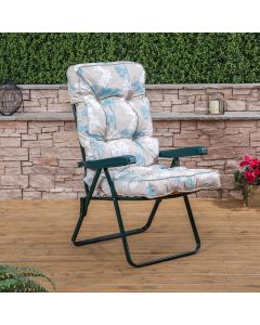 Alfresia Recliner Chair - Green Frame with Classic Cushion