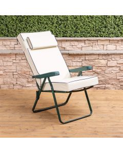 Alfresia Recliner Chair - Green Frame with Luxury Cushion
