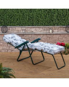 Alfresia Sun Lounger - Green Frame with Classic Cushion
