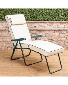 Alfresia Sun Lounger - Green Frame with Luxury Cushion