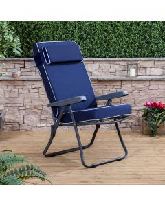 Alfresia Recliner Chair - Charcoal Frame with Luxury Cushion
