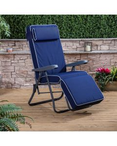 Alfresia Relaxer Chair - Charcoal Frame with Luxury Cushion