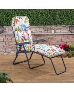 Alfresia Sun Lounger - Charcoal Frame with Classic Cushion