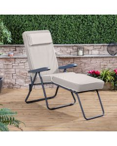 Alfresia Sun Lounger - Charcoal Frame with Luxury Cushion