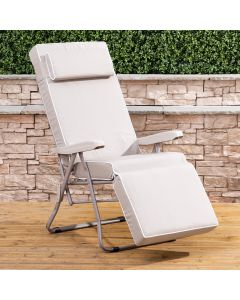 Alfresia Relaxer Chair - Cappuccino Frame with Luxury Cushion