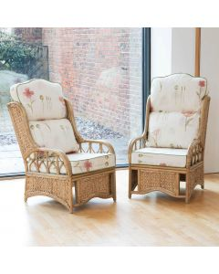 Alfresia 2 Penang Conservatory Armchairs with High Back Cushions