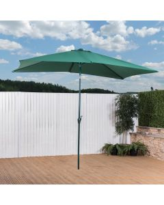 Alfresia 3m x 2m Aluminium Wind Up Garden Parasol - Green