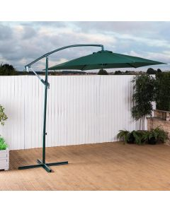 Alfresia 2.7m Cantilever Wind Up Garden Parasol (Green)