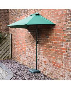 Alfresia 2.7m Half Wind Up Garden Balcony Parasol (Green)