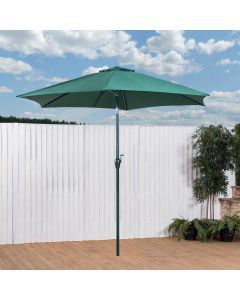Alfresia 2.7m Round Aluminium Wind Up Garden Parasol (Green)