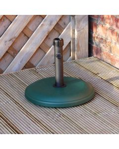 Alfresia 12kg Round Concrete Parasol Base - Green