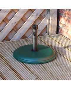 Alfresia 16kg Round Concrete Parasol Base - Green