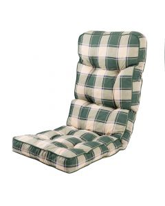 Alfresia Classic Recliner Cushion in Green Check