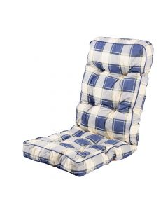 Alfresia Classic Recliner Cushion in Blue Check