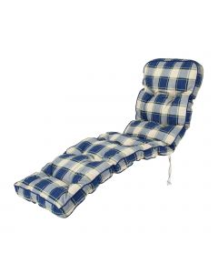 Alfresia Classic Relaxer Cushion in Blue Check
