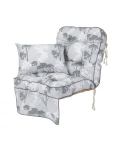 Alfresia Single Classic Garden Swing Seat Cushion - Francesca Grey