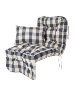 Single Classic Garden Swing Seat Cushion - Burberry Check