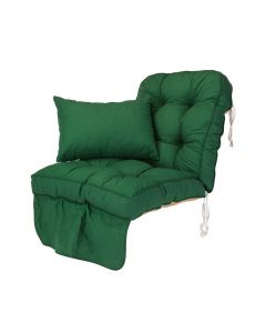 Single Classic Garden Swing Seat Cushion - Green