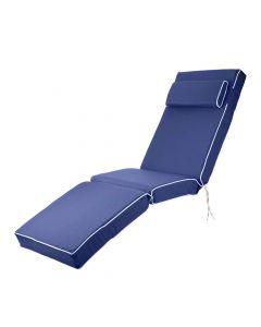 Luxury Sun Lounger Chair Cushion in Navy Blue