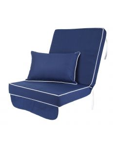 Single Luxury Garden Swing Seat Cushion - Navy Blue