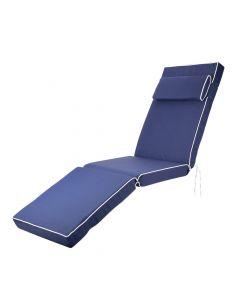 Luxury Steamer Deck Chair Cushion in Navy Blue