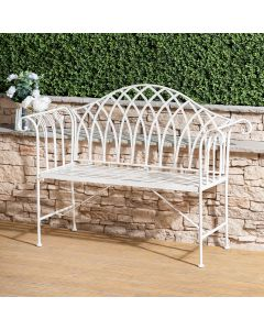 Verona Wrought Iron Garden Bench