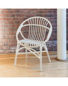 Alfresia Hand-Woven Wicker Oval Bedroom Chair