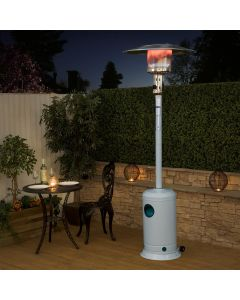 Fire Mountain Classic White Gas Patio Heater