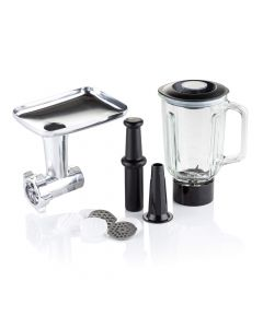 Vitinni Stand Mixer Accessory Pack - Blender Jug  Meat Grinder and Pasta Maker