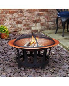Alfresia Trinidad Copper Effect Fire Pit