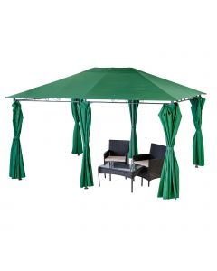 Alfresia Sahara Rectangular Decorative Garden Gazebo - Green