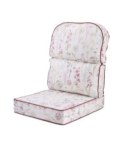 Alfresia Replacement Low Back Conservatory Furniture Cushion - Wild Flower Heather