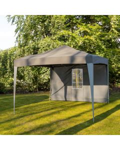 3m x 3m Pop Up Garden Gazebo with Four Side Panels