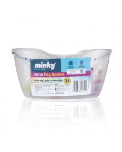 Minky 24 Brite Pegs with Basket