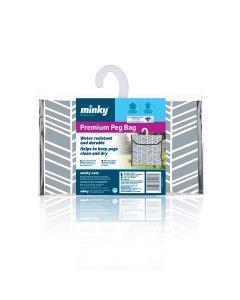 Minky Geo Peg Bag