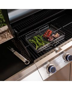 Fire Mountain Stainless Steel Adjustable Barbecue Grill Basket