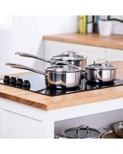 Tri Ply Stainless Steel 3 Piece Pan Set