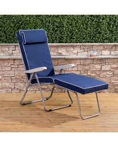 Alfresia Sun Lounger - Cappuccino Frame with Luxury Cushion