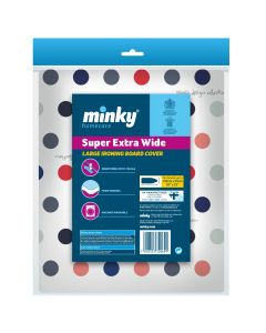 Minky Extra Wide Large Ironing Board Cover - 135cm x 55cm
